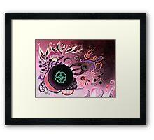 Camtric deep sea III, purple Framed Print
