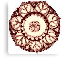 Sepia Bloom Canvas Print
