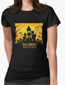 Halloween House Party Womens Fitted T-Shirt