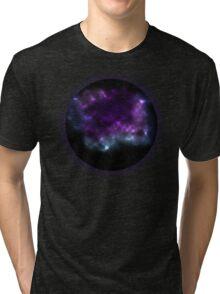 Purple Galaxy Bubble Tri-blend T-Shirt