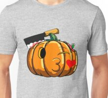 Funny Pumpkin Emoji Kissing Emoticon Halloween T-Shirt Unisex T-Shirt