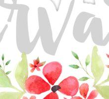 Floral Harvard Sticker
