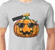Funny Pumpkin Emoji Sunglasses Emoticon Halloween T-Shirt Unisex T-Shirt