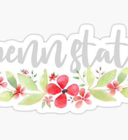 Floral Penn State Sticker