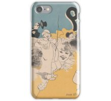 Cover for the book Paris qui rit by Georges Duval Jules Chéret iPhone Case/Skin