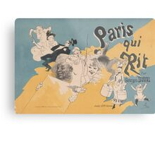 Cover for the book Paris qui rit by Georges Duval Jules Chéret Metal Print