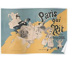Cover for the book Paris qui rit by Georges Duval Jules Chéret Poster