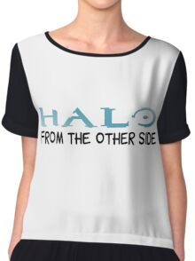 Halo Video Games Adele Hello Music Quotes Funny Sarcastic Chiffon Top