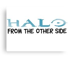 Halo Video Games Adele Hello Music Quotes Funny Sarcastic Canvas Print