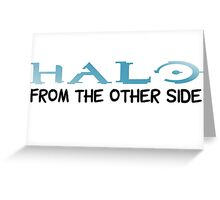 Halo Video Games Adele Hello Music Quotes Funny Sarcastic Greeting Card
