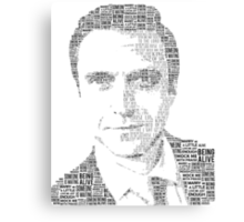 Raúl Esparza Typography Canvas Print