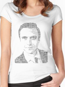 Raúl Esparza Typography Women's Fitted Scoop T-Shirt