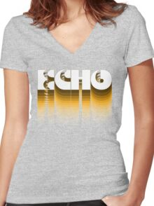 Echo Women's Fitted V-Neck T-Shirt