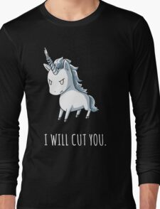 Unicorn lover - I will cut you Long Sleeve T-Shirt