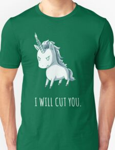 Unicorn lover - I will cut you Unisex T-Shirt