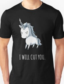 Unicorn lover - I will cut you Unisex T-Shirt