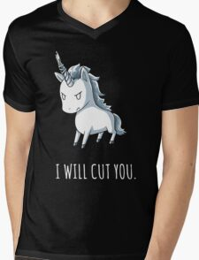 Unicorn lover - I will cut you Mens V-Neck T-Shirt