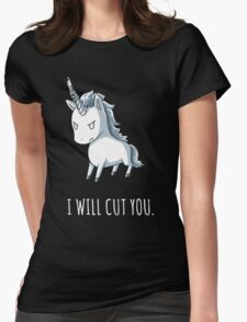 Unicorn lover - I will cut you Womens Fitted T-Shirt