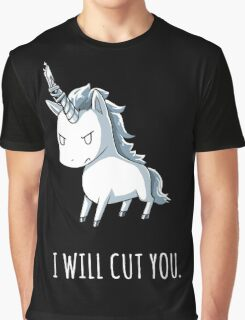 Unicorn lover - I will cut you Graphic T-Shirt