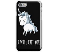 Unicorn lover - I will cut you iPhone Case/Skin
