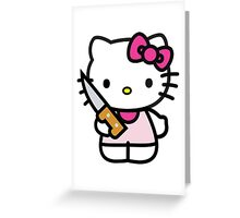 HELL KITTY Greeting Card