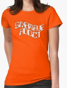 Sine Wave Addict Womens Fitted T-Shirt