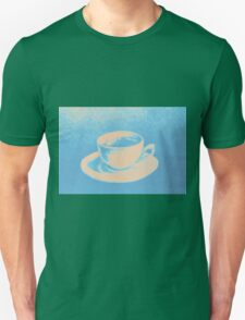 Colorful drawing of coffee cup and saucer Unisex T-Shirt
