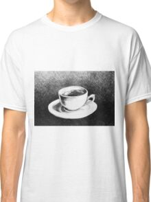 Drawing of coffee cup and saucer Classic T-Shirt