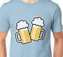 2 Clinking Beer Glasses For A Cheer! Unisex T-Shirt