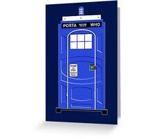 Porta Who Greeting Card