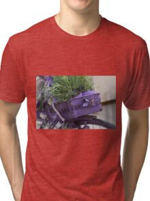 bicycle with lavender Tri-blend T-Shirt