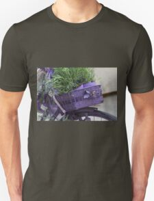 bicycle with lavender Unisex T-Shirt
