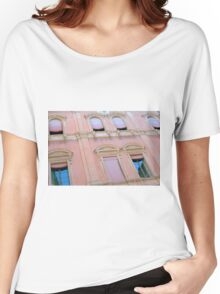 Classical building facade in pink shades Women's Relaxed Fit T-Shirt