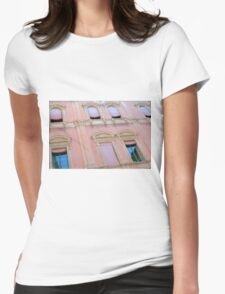 Classical building facade in pink shades Womens Fitted T-Shirt