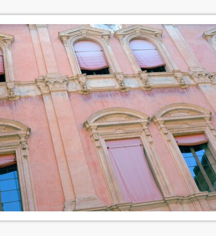 Classical building facade in pink shades Sticker