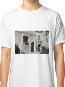 Stone street in Assisi Classic T-Shirt