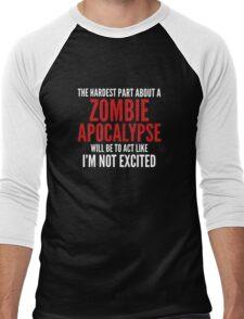 Zombie Apocalypse Men's Baseball ¾ T-Shirt