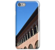 Brick building with columns and arches iPhone Case/Skin