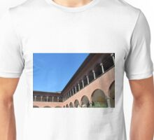 Brick building with columns and arches Unisex T-Shirt