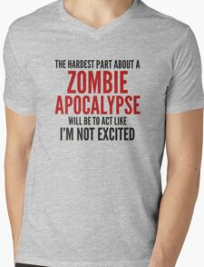 Zombie Apocalypse Mens V-Neck T-Shirt