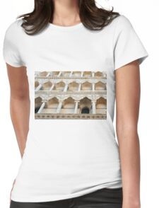 Decorative facade with columns, arches and portico. Womens Fitted T-Shirt