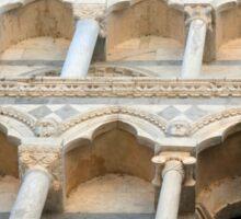 Decorative facade with columns, arches and portico. Sticker