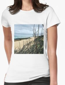 St Andrews beach Womens Fitted T-Shirt