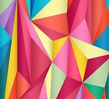 colorful triangles  by JoeEgy