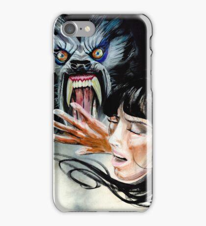 Werewolf Attacking  iPhone Case/Skin