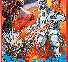 Godzilla Vs Mechagodzilla by zeebigfella