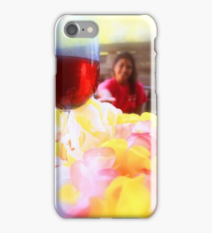 The wine is just out of reach iPhone Case/Skin
