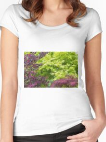 maple in spring Women's Fitted Scoop T-Shirt