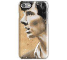 Charcoal & coffee Sherlock iPhone Case/Skin