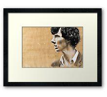Charcoal & coffee Sherlock Framed Print